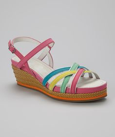 Look at this #zulilyfind! Candy Pool Madge Leather Sandal #zulilyfinds