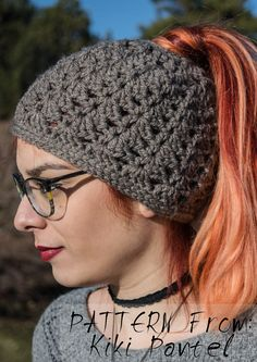 Eve's messy bun hat / beanie / ponytail hat – Crochet Perfume