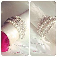 Bracciale 5 fili    per info: info@daniadesign.it  #bracciale #bracelet #accessori #accessories #handmade #fattoamano #madeinitaly #creazioni #creations #handmadecreations #bijoux #style #perle #fashion