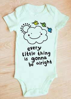 20e54ef668 Three Little Birds Bodysuit | Bob Marley Baby | Music Baby Gift | Reggae  Baby Shower Gift | Don't Wo
