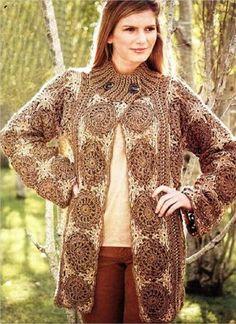 Crochet Winter Fashion Jacket - Free Crochet Pattern   Crochet patterns   Bloglovin'
