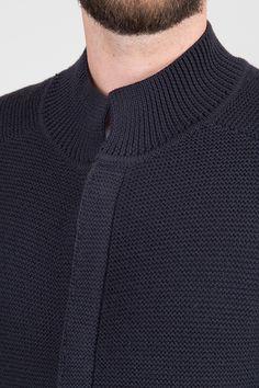 Chunky Knit Cardigan - Black