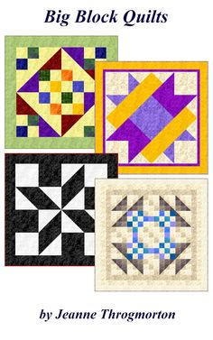 myQuiltGenie Blog  Great site! 4 patterns for big block quilts, lots of block patterns with quilt calculators and also quilting terms.