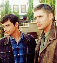 Supernatural   John & Dean Winchester, Matt Cohen and Jensen Ackles.