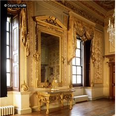 Houghton Hall - The White Drawing Room  The residence of Great Britain's first Prime Minister, Sir Robert Walpole with magnificent interiors designed by William Kent in the early 18th Century.