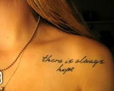 collar bone tattoo - place
