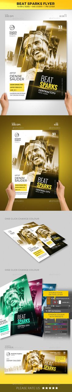 Beat Sparks #Flyer - Clubs & Parties #Events