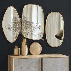 Table ronde miroir de l/'épargne miroir de maquillage sur support-Chrome