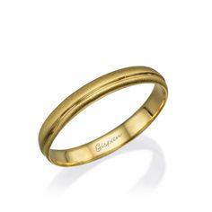 Wedding Band Yellow Gold Wedding Ring Matte Ring by Gispandesigns