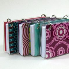 3 x 5 Index Card or Note Card Binder Set of Four by CrownBindery I make these myself, too, I just really like these colors