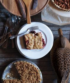 Sour Cherry and Cranberry Slab Pie | There's only one way to end a holiday meal: with a dessert that's just as satisfying as the main event. From the unexpected, like Chocolate Whiskey Pecan Pie, to the old standbys, like Sweet Potato Pie, we've got a dozen dessert ideas that'll leave your guests wanting just one more sliver.