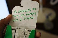 15 chances