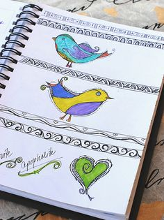 Art Journal - Zenspirations Birds