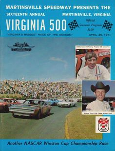 Martinsville Speedway / Virginia 500 / 4.25.71: Richard Petty led 118 of 500 laps to win his seventh race of the 1971 season. Petty and David Pearson were the only drivers to finish on the lead lap, while Bobby Isaac finished third, eight laps back. Donnie Allison, who led 367 laps, blew an engine and completed just 413 laps to finish 15th.