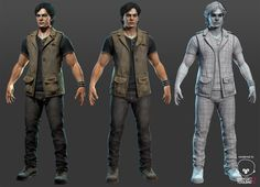 Male game character - ArtStation - Naughty Dog Character Test, Rhangga Putra