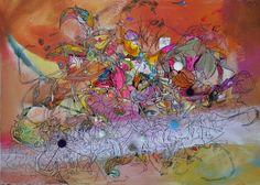 "Saatchi Online Artist: Larisa Ilieva; Mixed Media 2013 Painting ""White Light"""