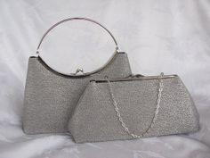 SILVER Formal clutch purse/Bridal clutch purse by jemdesign567, $45.00