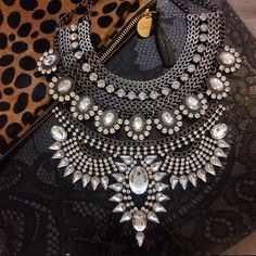 High Quality Vintage Inspired Statement Necklace New high quality statement bib necklace. Gorgeous mix of chain detail and crystals. 2015 gypsy Tribal trend as seen on many celebrities. This chunky necklace is not heavy to wear. No trades. Jewelry Necklaces