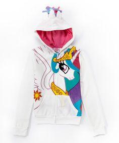 Look at this #zulilyfind! White Celestial My Little Pony Hoodie - Girls by My Little Pony #zulilyfinds
