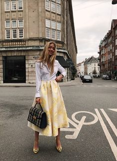 Ganni street style   Emili Sindlev   Murene Jacquard Skirt