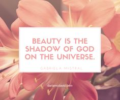A Wonderful Quote: Beauty is the Shadow of God