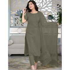 Salwar Suits : Grey rayon thread and seqeuence work salwar ... Patiala Suit, Churidar Suits, Anarkali Suits, Salwar Kameez, Carnival Store, New Punjabi Suit, Embroidery Designs, Best Kurtis, Kurti Collection