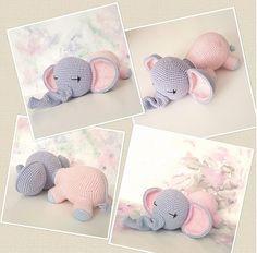 Alvó elefánt :: Evagurumi1 Crochet Elephant Pattern, Crochet Teddy Bear Pattern, Crochet Baby Toys, Crochet Rabbit, Crochet Animal Patterns, Stuffed Animal Patterns, Crochet Animals, Crochet Dolls, Newborn Toys