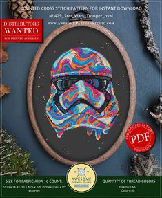 Star Wars Trooper Cross Stitch Pattern for Instant Download