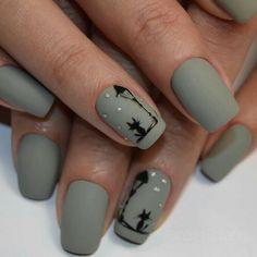 Nails Art Stiletto Gray New Ideas Nail Art Noel, Cat Nail Art, Animal Nail Art, Cat Nails, Nail Art Diy, Minimalist Nails, Classy Nails, Glitter Nail Art, Beauty Nails