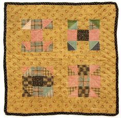 Antique shoo fly doll quilt.