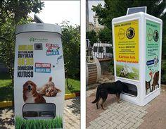 Em Istambul, na Turquia onde existe um número estimado de 150 mil cães e gatos de rua, uma empresa turca chamada Pugedon encontrou uma maneira brilhante de