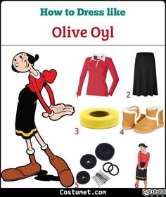 Olive Oyl Oil Popeye Cartoon Comic Licensed Womens Costume with Wig S//M