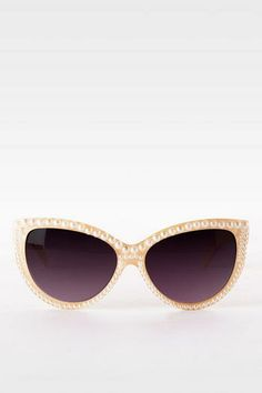 Pearl Cateye Sunglasses. Just got these from Francesca's. Love!