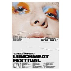 """ANYMADE STUDIO auf Instagram: """"One more eyes... @lunchmeatfestival by Anymade. Nice to be a part of crew. Love to all! See ya next year... . #lunchmeatfestival…"""" Creative Poster Design, Graphic Design Layouts, Graphic Design Typography, Graphic Design Inspiration, Layout Design, Print Design, Typo Poster, Print Layout, Grafik Design"""