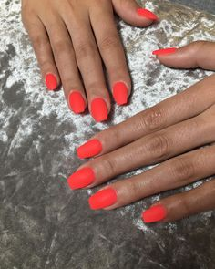 Global Nail Art Trends - Japan Amsterdam New York // neon orange nails, neon manicure Bright Summer Acrylic Nails, Bright Nails, Neon Nails, Cute Acrylic Nails, Cute Nails, Neon Orange Nails, Coral Nail Art, Pastel Nails, 3d Nails