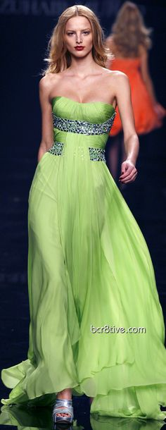 Zuhair Murad Fall Winter 2009 Ready To Wear Milan love this color green...