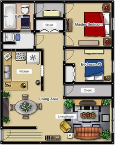 Two Bedroom Floor Plans - Cherry Hill Towers Luxury Apartment