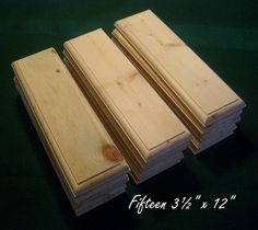 15 Piece 35 x 12 Crafters Unfinished Wood by ParchdashMintdotcom, $29.98