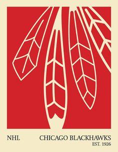 blackhawks minimalist poster    This is cool.