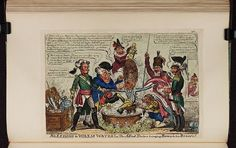 12 December 1813.Bodleian Libraries, Bleeding warm water or,-The allied doctors bringing Boney to his sense's.Caricature of Napoleon I.(British political cartoon)