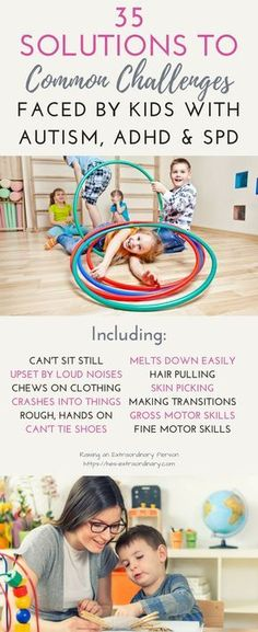 35 Solutions to Common Challenges Faced By Kids With Autism - If your kiddo has ASD, SPD, or ADHD chances are there are sensory challenges they deal with every day.When children are expected to do something they are unable to do or have sensory challenges Autism Sensory, Autism Activities, Autism Resources, Sensory Activities, Sorting Activities, Autism Articles, Sensory Rooms, Sensory Bags, Sensory Bottles