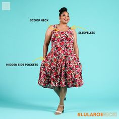 LuLaRoe Nicki- The Nicki will be a sleeveless version of the Nicole dress. It will have a scoop neckline and feature breathable fabrics since we're heading into summer. This dress will also have pockets since everything is better with pockets. Based on the pictures we've seen, the Nicki will be available in both solids and prints. #lularoenicki #lularoe #devinzarda #style #womensfashion #fashion #stylish @devinzarda
