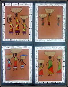 African woman & children:  the blog it comes from doesn't actually have it unless it is in the archives, but the picture gives a cool idea on how to make it.