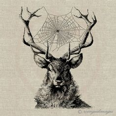 Deer Dreamcatcher Image No103 Digital Download by WingedImages on Etsy