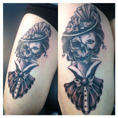 Only the best free Victorian Tattoos tattoo's you can find online! Victorian Tattoos tattoo's to print off and take to your tattoo artist. Skull Girl Tattoo, Girl Skull, Skull Tattoos, New Tattoos, Girl Tattoos, Sketch Tattoo Design, Tattoo Sketches, Tattoo Drawings, Tattoo Designs