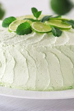 Key Lime Layer Cake with Cream Cheese Frosting Recipe