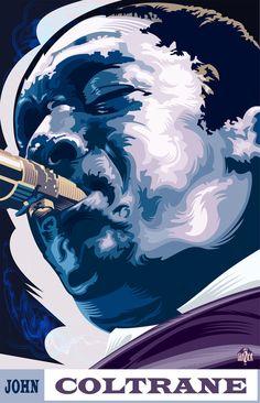 Jazz Legends by Garth Glazier, via Behance