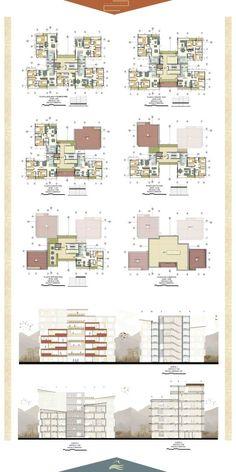 Hotel Architecture, Concept Architecture, Residential Architecture, Architecture Design, Indian Architecture, Town House Floor Plan, Hotel Floor Plan, Architectural Floor Plans, Architectural Drawings