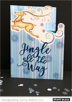 CLICK THROUGH FOR VIDEO: Creative edges and borders with Penny Black stamps and dies!