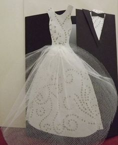 wedding card I made and added the tulle....